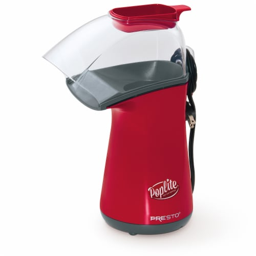 Presto PopLite Hot Air Popper - Red/Clear Perspective: front
