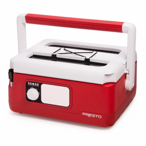 Presto Nomad Traveling Slow Cooker - Red Perspective: front