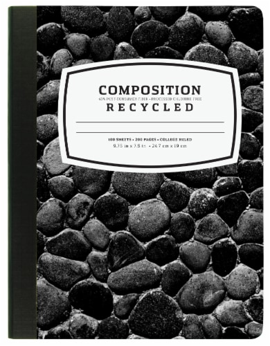 Top Flight Recycled Basics College Rule Composition Notebook - 100 Sheets Perspective: front