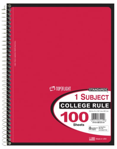 Top Flight Notebook 100 Pack Perspective: front