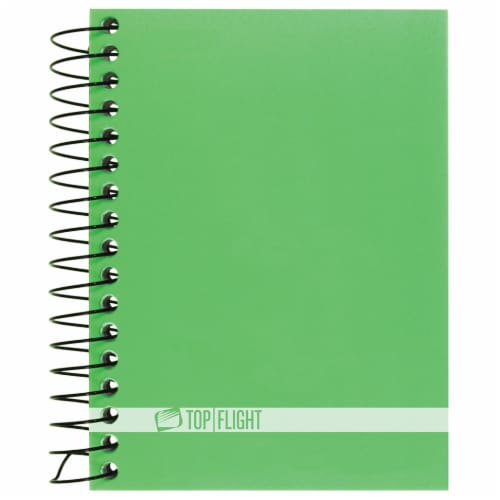 Top Flight Boss Narrow Rule Wire Bound Notebook - Assorted Perspective: front