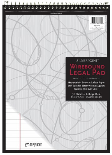 Top Flight SilverPoint College Rule Legal Pad Perspective: front