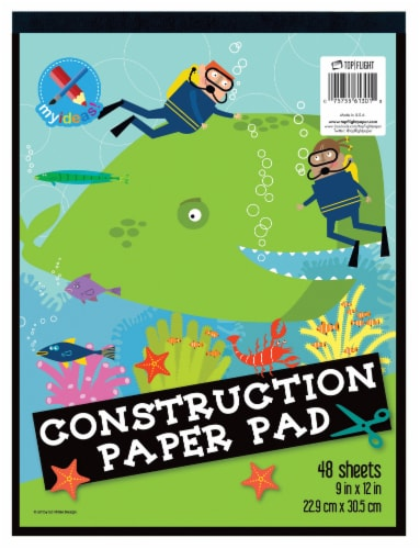 Top Flight Construction Paper Pad - 48 Sheets Perspective: front