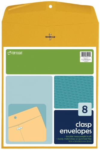 Top Flight Clasp Envelopes - 8 Pack Perspective: front