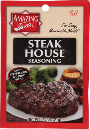 Amazing Taste Steak House Seasoning Perspective: front