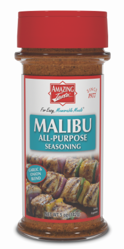 Amazing Taste Malibu Garlic & Onion Blend Seasoning Perspective: front