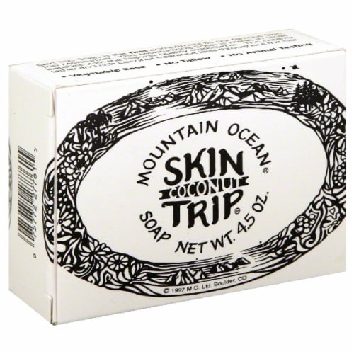 Mountain Ocean Skin Trip Coconut Soap Bar Perspective: front