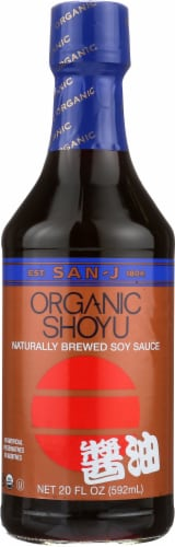 San-J Organic Shoyu Soy Sauce Perspective: front