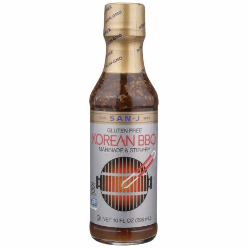 San-J Korean Gluten Free BBQ Marinade and Stir-Fry Sauce Perspective: front