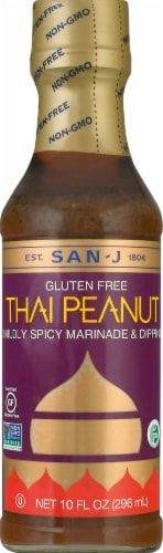 San-J Gluten Free Thai Peanut Marinade & Dipping Sauce Perspective: front