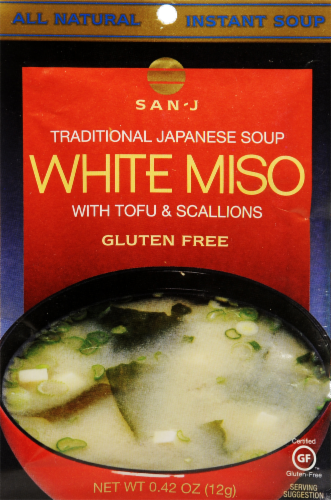 San-J White Miso with Tofu Perspective: front
