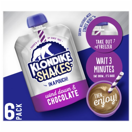 Klondike Shakes Chocolate Milkshake Ice Cream Pouches Perspective: front