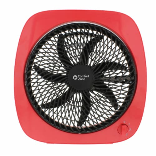 Comfort Zone Turbo Table Fan - Red Perspective: front