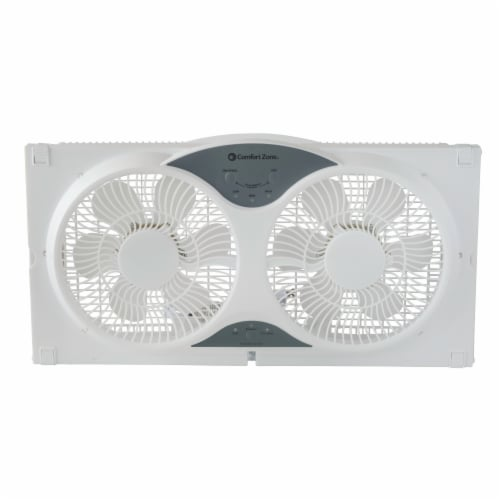 Comfort Zone 3-Speed Dual Reversible Window Sill Fan Perspective: front