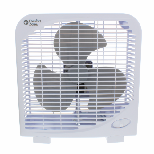 Comfort Zone Portable Box Fan - White Perspective: front
