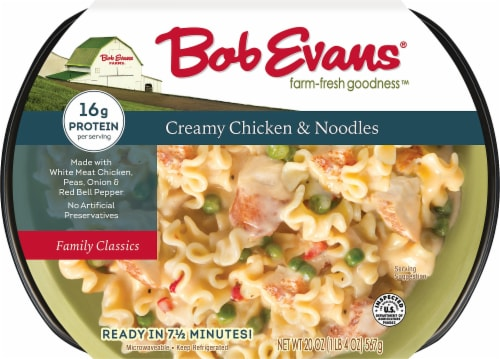 Bob Evans Creamy Chicken & Noodles Side Dishes Perspective: front