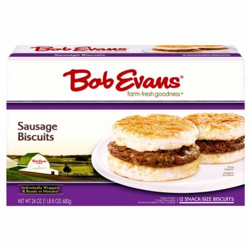 Bob Evans Sausage Biscuits Perspective: front