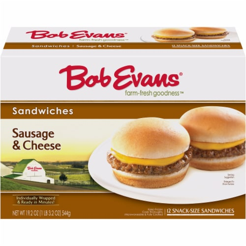 Bob Evans Farm-Fresh Goodness Sausage & Cheese Sandwiches Perspective: front