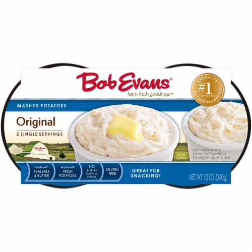 Bob Evans Farm-Fresh Goodness Twin Cup Original Mashed Potatoes Perspective: front