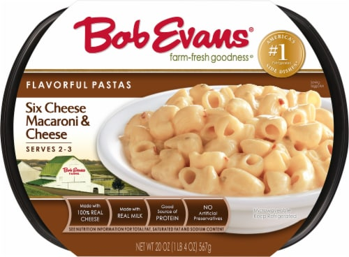 Bob Evans Flavorful Pastas Six Cheese Pasta Side Dish Perspective: front