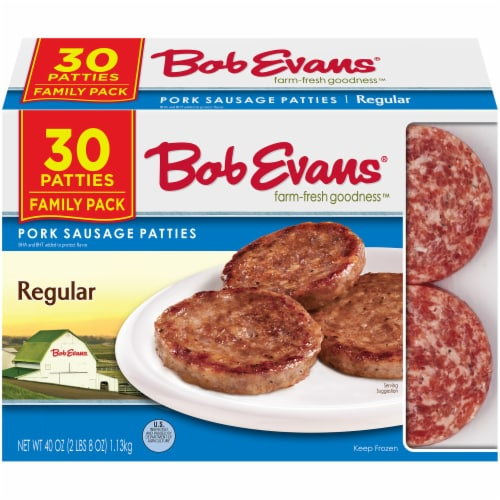 Bob Evans Farm-Fresh Goodness Regular Pork Sausage Patties Family Pack Perspective: front