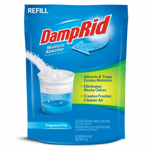 DampRid Frangrance Free Moisture Absorber Refill Perspective: front