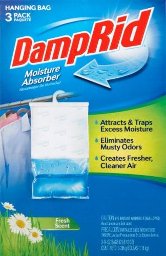 DampRid Fresh Scent Hanging Moisture Absorber Bag - 3 Pack Perspective: front