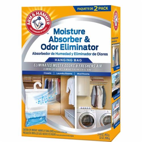 Arm & Hammer Hanging Moisture Absorber Odor Eliminator Hanging Bags Perspective: front