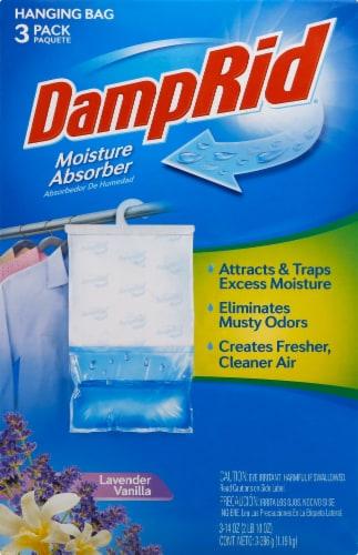 DampRid Lavender Vanilla Hanging Moisture Absorber Bag Perspective: front