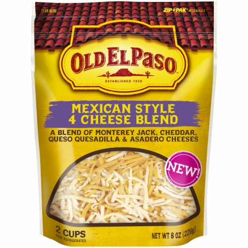 Old El Paso Mexico Style 4 Cheese Blend Shredded Cheese Perspective: front