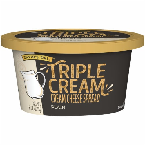 David's Deli Triple Cream Plain Cream Cheese Spread Perspective: front