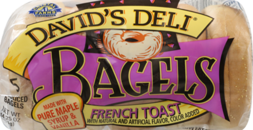 David's Deli French Toast Bagels Perspective: front