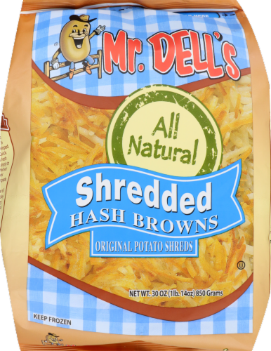 Mr. Dell's All Natural Frozen Shredded Hash Browns Perspective: front