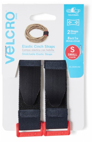 Velcro® Small Elastic Cinch Straps - 2 Pack Perspective: front