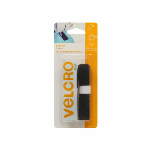 Velcro® Sew On Fabric Fastener Roll - Black Perspective: front