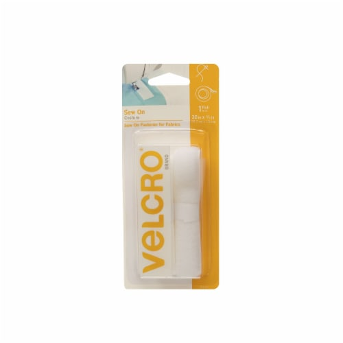 Velcro® Sew-On Tape - White Perspective: front