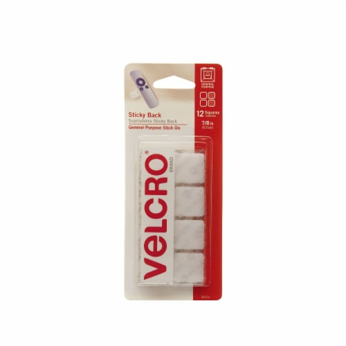 Velcro® Sticky Back Squares - 12 pk - White Perspective: front