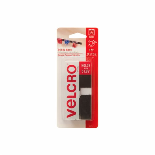Velcro® Sticky Back General Purpose Stick On Roll - Black Perspective: front