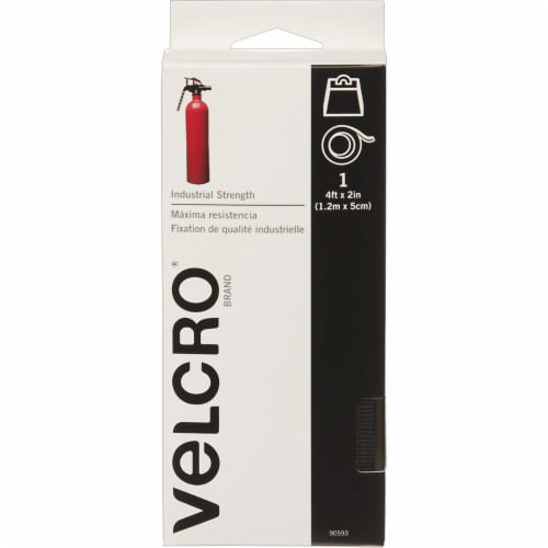 Velcro® Brand Industrial Strength Black Tape Perspective: front