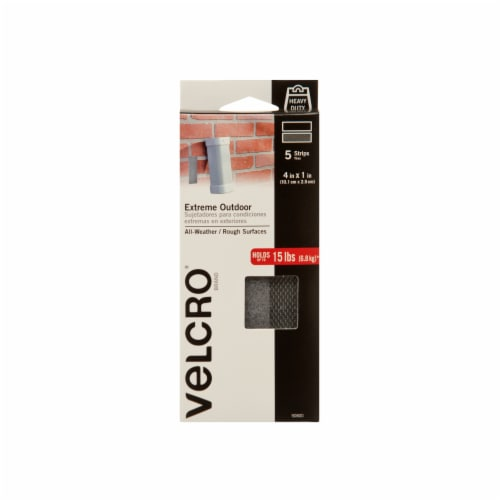Velcro® Extreme Outdoor All-Weather Strips - 5 Pack - Black Perspective: front