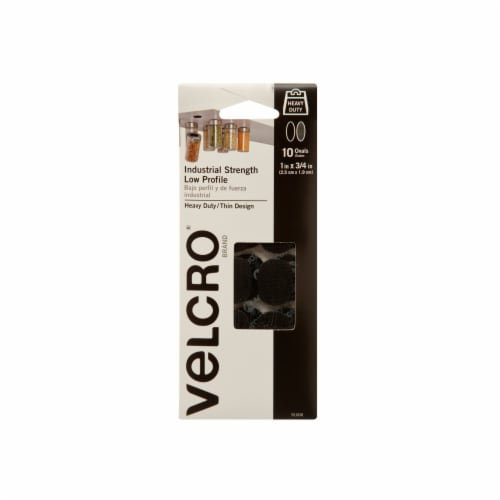 Velcro® Industrial Strength Oval Fasteners - 10 Pack - Black Perspective: front