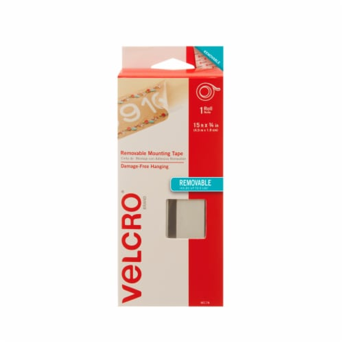 Velcro® Removable Mounting Tape Roll - White Perspective: front