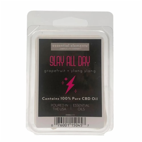 Candle-lite Essential Elements Slay All Day CBD Wax Cubes Perspective: front