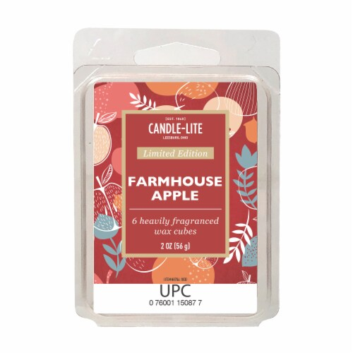 Candle-lite Farmhouse Apple Fragranced Wax Cubes Perspective: front