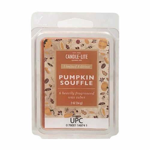 Candle-lite Pumpkin Souffle Fragranced Wax Cubes Perspective: front