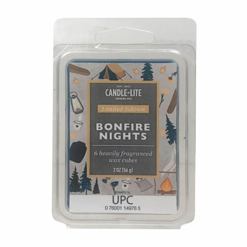 Candle-lite Bonfire Nights Fragranced Wax Cubes Perspective: front
