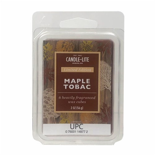 Candle-lite Maple Tobac Fragranced Wax Cubes Perspective: front