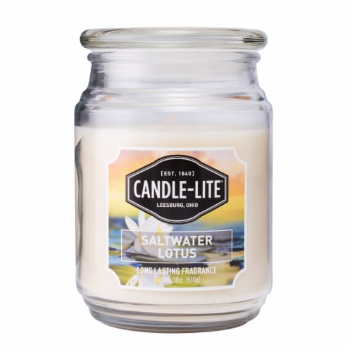 Candle-lite Saltwater Lotus Scented Candle Perspective: front
