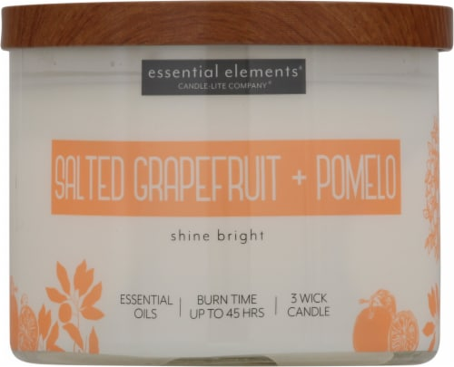 Candle-lite Essential Elements Salted Grapefruit & Pomelo Candle Perspective: front