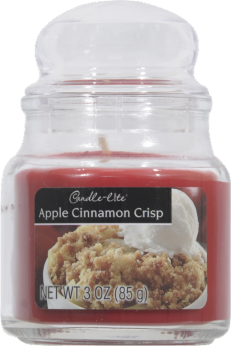 Candle-Lite Apple Cinnamon Crunch Jar Candle Perspective: front